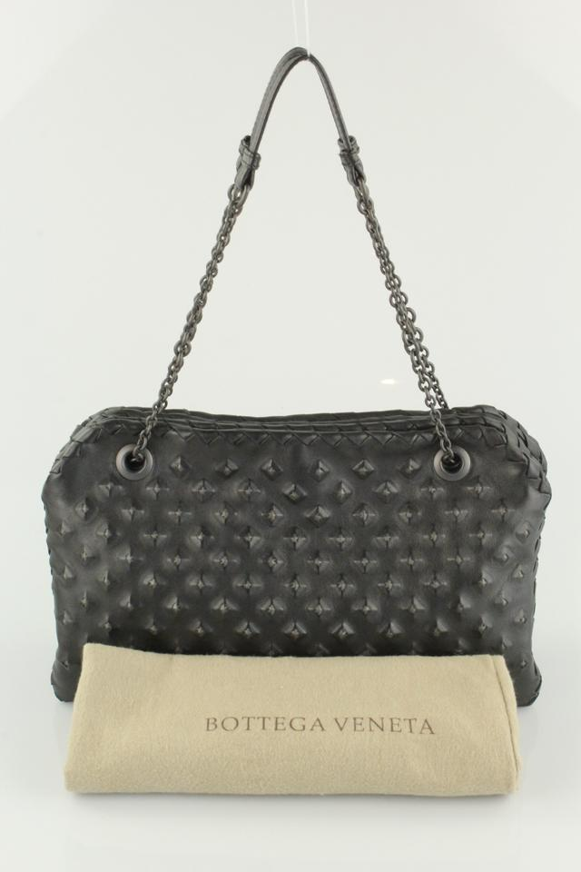 bdccb675ea Bottega Veneta Stud Black Leather Shoulder Bag - Tradesy