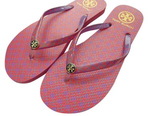 Tory Burch Logo Pink Sandals