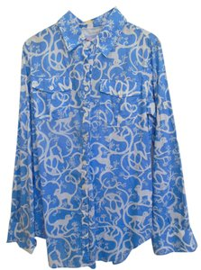 Lilly Pulitzer Top Tide Blue Shaken Up