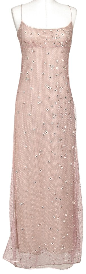 5708b841a6 Marc Jacobs Rose Pink Lace Overlay Iridescent Maxi Cocktail Dress ...