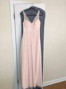 BHLDN Blush Nylon Tulle Lace; Polyester Lining Fleur Bridesmaid/Mob Dress Size 6 (S)