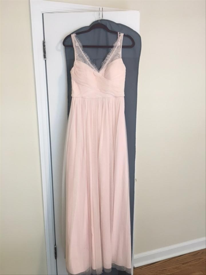 Bhldn Blush Nylon Tulle Lace Polyester Lining Fleur Bridesmaid Mob