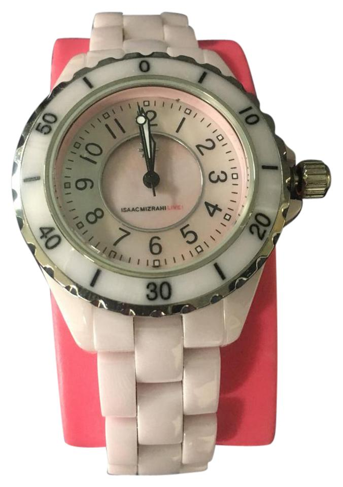 Watch Mom In Bedroom Camera: Isaac Mizrahi Live! Pink Ceramic With Mother-of-pearl Dial
