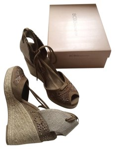 BCBGeneration Taupe Wedges