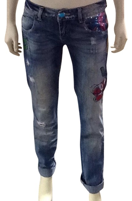 Item - Multicolor Distressed Capri/Cropped Jeans Size 28 (4, S)