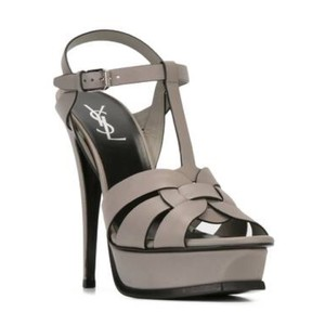 Saint Laurent Oyster Gray Sandals