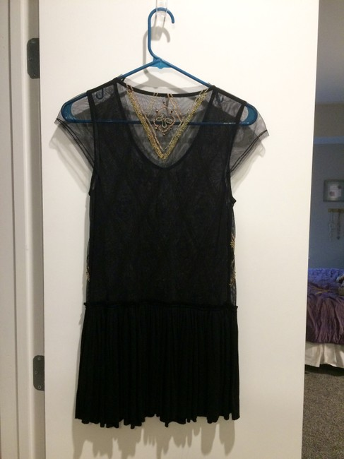 Free People Beaded Mesh Tunic Image 1