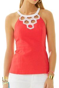 Lilly Pulitzer Top coral/white