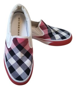 Burberry Gauden Slip On Sneakers Checkered Canvas And Leather Multicolor Check Pattern Flats