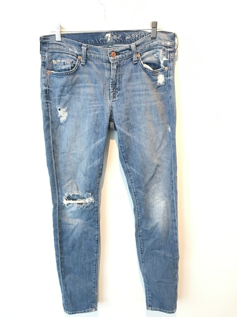 Item - Blue Distressed 'the Skinny Jeans Size 30 (6, M)