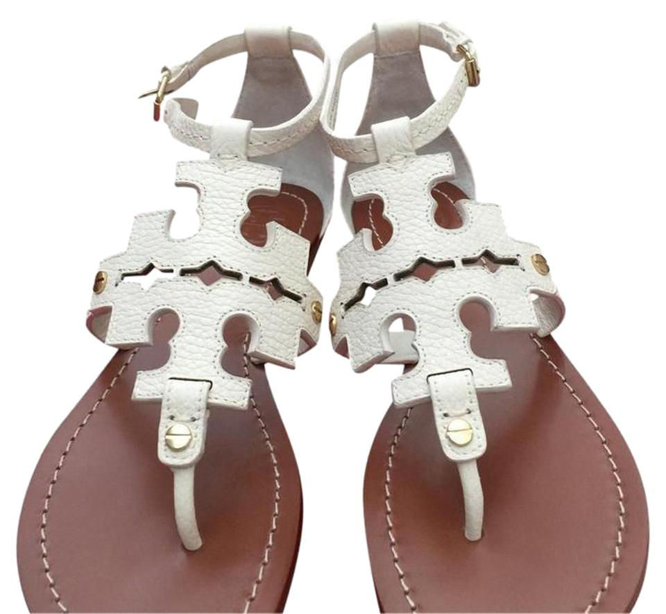 Tory Burch Elba Flat Tumbled Leather Flat Elba Thong Sandals 3ba985