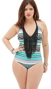 Forever 21 Plus Size One Piece Multicolor Swimsuit 1X NWT
