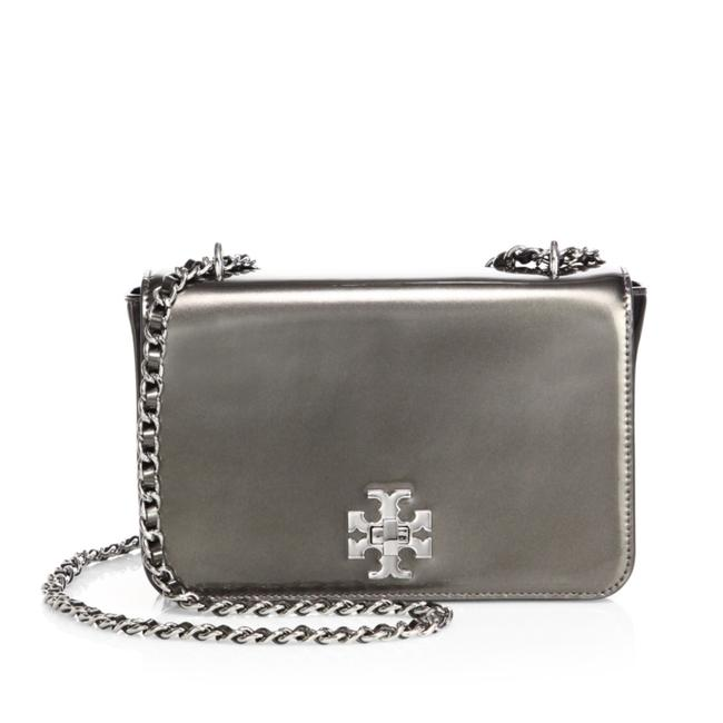 Item - Mercer Metallic Adjustable Anthracite / Silver Patent Leather Shoulder Bag