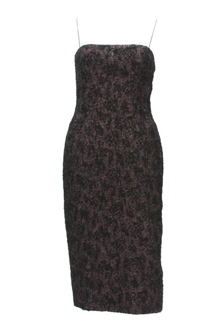 Item - Black with Pink Background Boucle Pencil Short Casual Dress Size 6 (S)