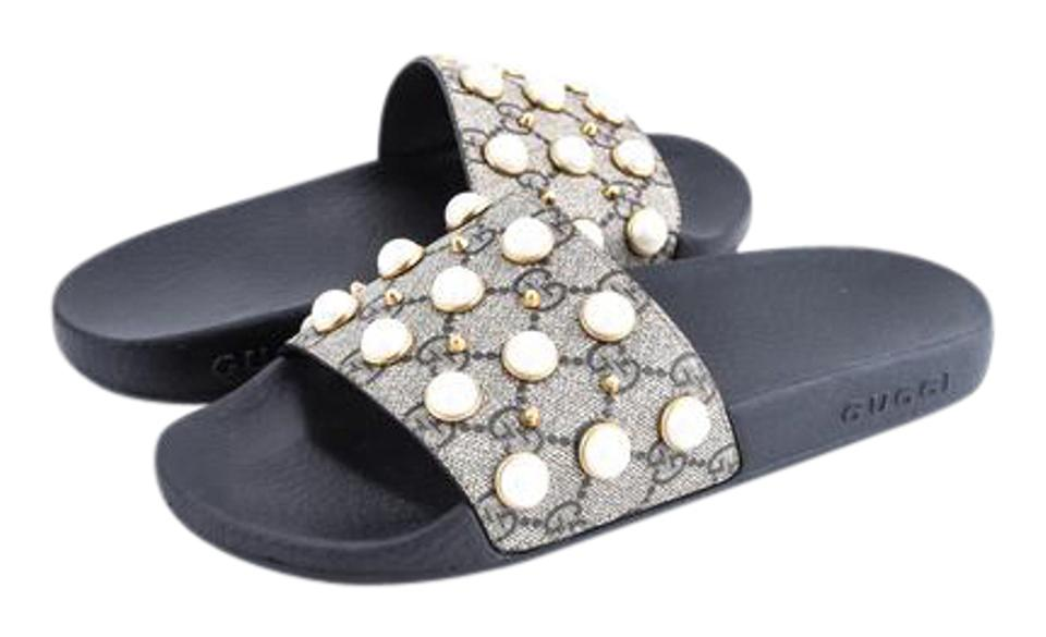 ba5cdc367f5 Gucci   Gg Supreme Slide with Pearls Sandals Size US 6.5 Regular (M ...