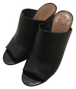 Tory Burch Leather Black Mules