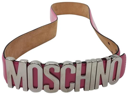 Preload https://img-static.tradesy.com/item/21624493/moschino-silver-pink-leather-silver-tone-letter-charms-m-belt-0-4-540-540.jpg