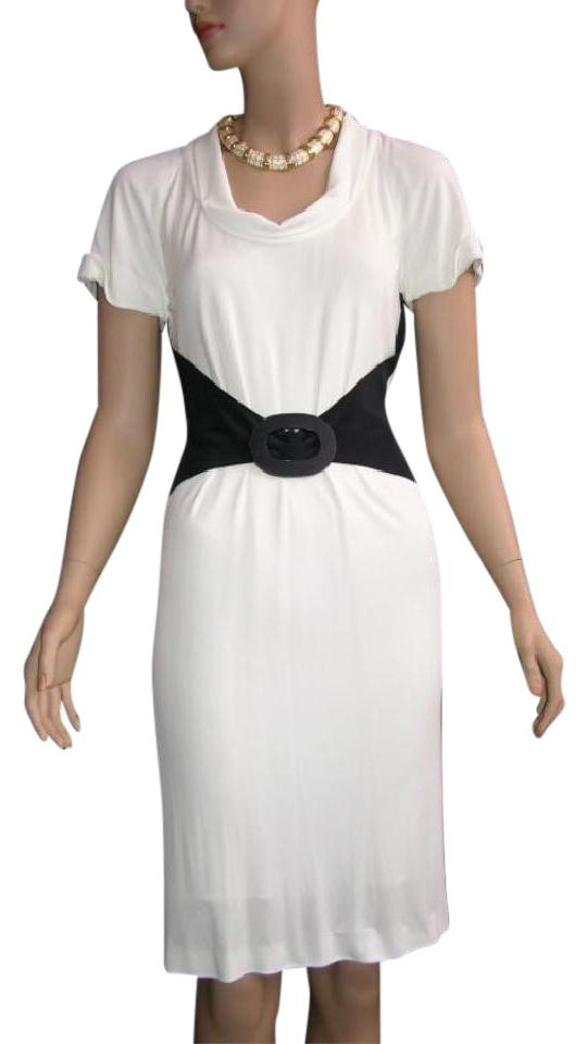 a9183f1c126 Fendi Off-white Timeless Chic White   Black Short Casual Dress Size ...