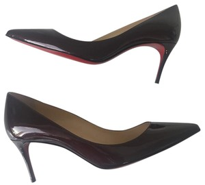 f46be0848098 Christian Louboutin Classic Sexy Red Soles Stiletto Decollete Burgundy Pumps