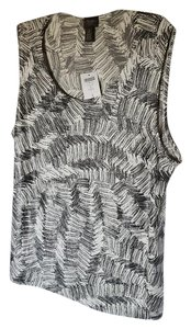 Chico's Top charcoal creme