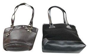 Brighton Rocker Top Stiching Leather Leather Faux Leather Shoulder Bag