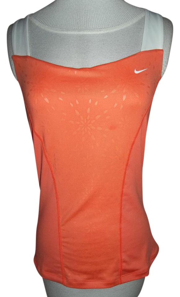 8d580dfcc8b2d Nike Orange Tonal with White Accents Sports Tank Activewear Top Size ...