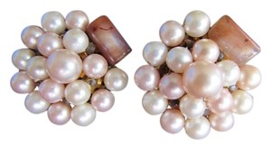 Bead Cluster JAPAN Clip-On Pearl & Glass Bead Earrings