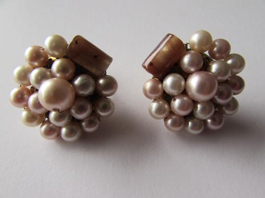 Other Bead Cluster JAPAN Clip-On Pearl & Glass Bead Earrings