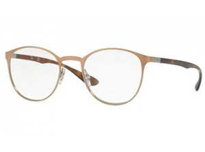 2d6b569c6a Ray-Ban Ray Ban Eyeglasses RX6355 2732 Brushed Light Brown Clear Demo Lens