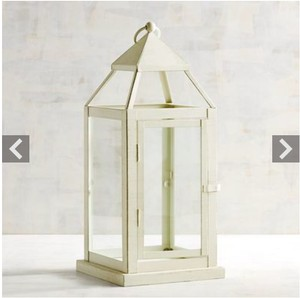 Set Of 9- Landen Small White Metal Lantern - Pier One. Used Once.