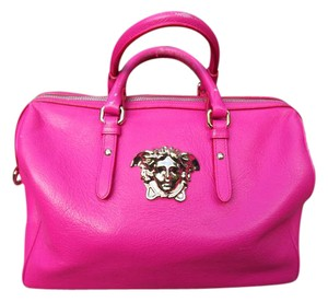 Versace Palazzo Empire Calf Leather Satchel in pink