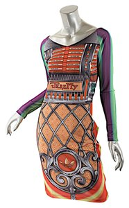 Jeremy Scott short dress Red Multicolor Adidias Jukebox on Tradesy