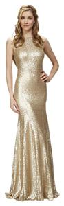 Theia Gold Sequin Gemma Style #: 910125 Formal Bridesmaid/Mob Dress Size 4 (S)