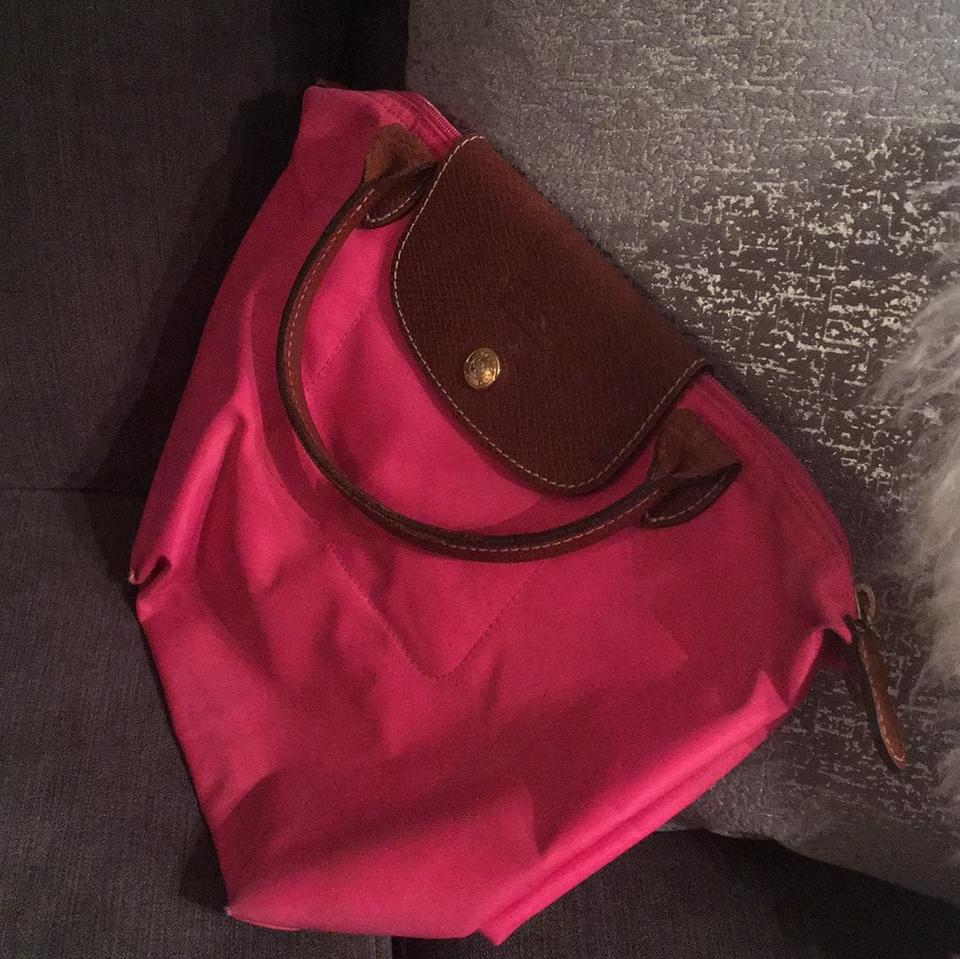Pink Mini Baguette Longchamp Hot Le Pliage Brown Leather with xIHaBRq