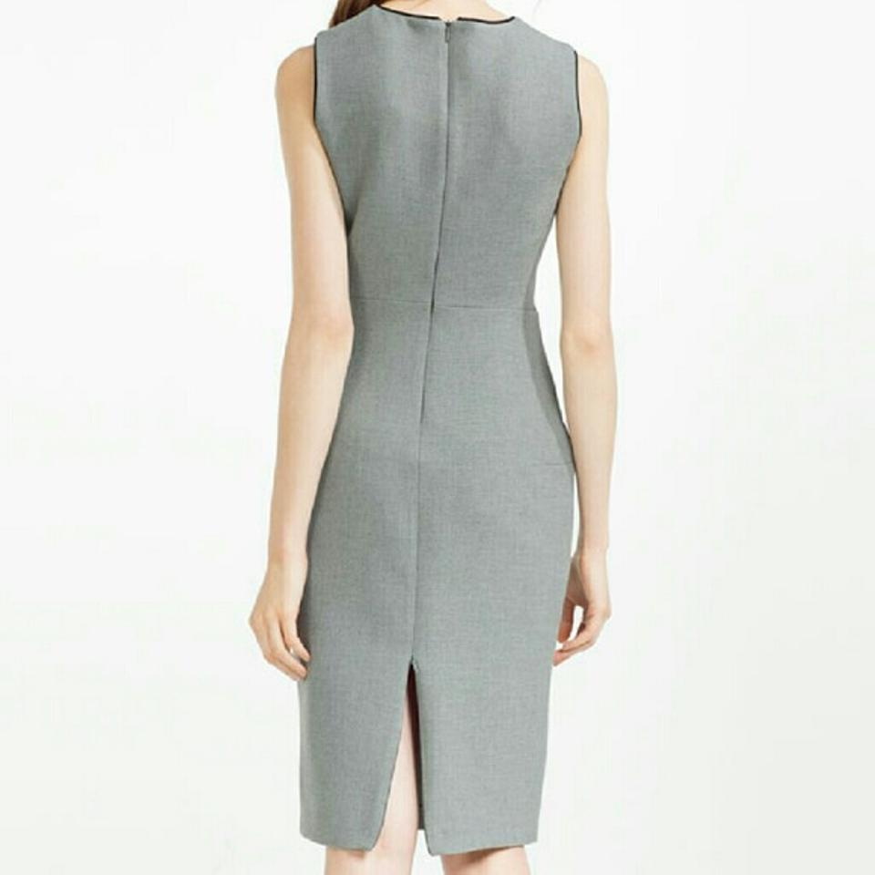 Dress Grey Office Marl Tube Piping 7972 Zara Work OdaqFwaP