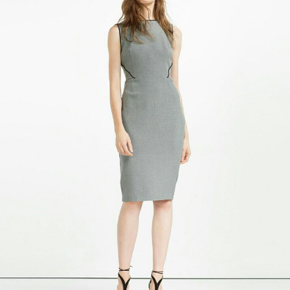 Tube Marl Work Zara 7972 Piping Grey Dress Office AFawx7