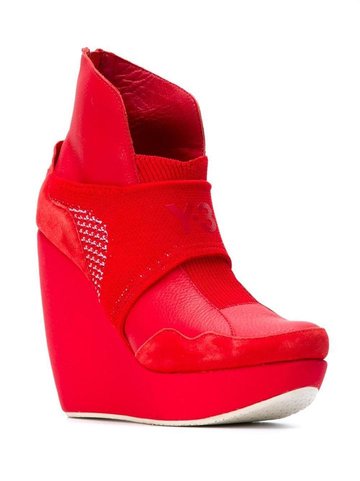 2820139453b8 Y-3 Red Shell Womens Heel Boot Yohji Yamamoto Adidas Wedges Size US ...