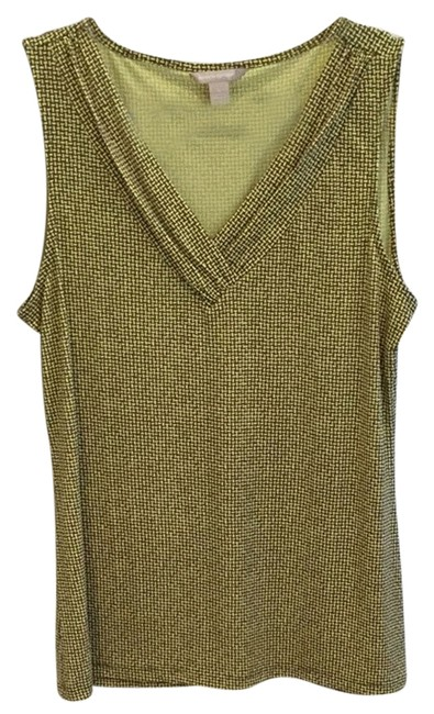 Preload https://item4.tradesy.com/images/banana-republic-v-neck-jersey-tank-top-yellow-print-2162658-0-0.jpg?width=400&height=650