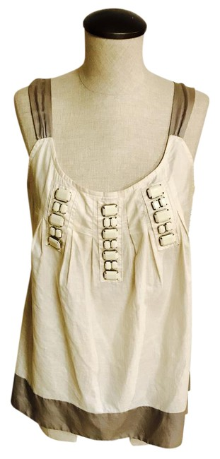 Miss Me Beaded Beads Top Ivory & Grey