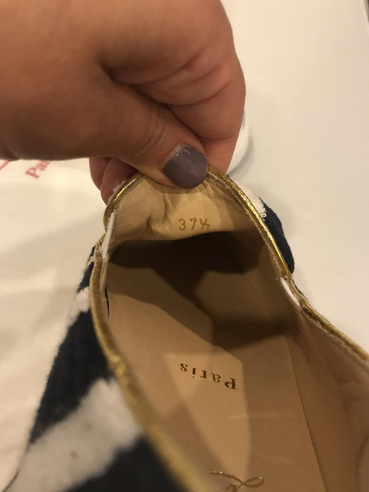 de1941ff924 Christian Louboutin Navy/White Boat Spa Striped Mariniere Terry Slip On  Sneakers 37.5 Flats Size US 7.5 Regular (M, B) 21% off retail