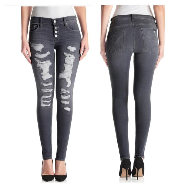Item - Mixed Between Black and Gray Distressed Ciara Super Skinny Jeans Size 27 (4, S)
