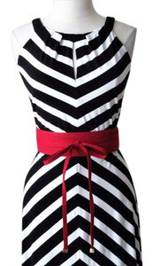 White House | Black Market New with tags suede wrap obi fuchsia pink red belt size XLarge
