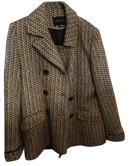 Item - Brown Cream Gold Threading Brown Buttons Brown Lining. Victoria's Secret Coat Size 12 (L)
