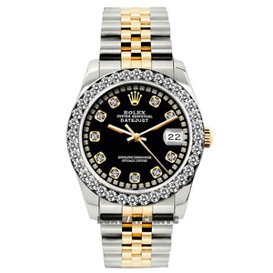 Rolex LADIES DATEJUST GOLD S/S DIAMOND WATCH W/ BOX & APPRAISAL