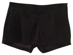 Joie Short Velvet Dress Shorts Black Caviar