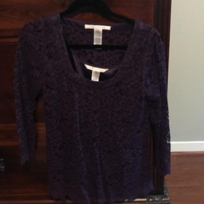 Item - Lace with Silk Underpinning Purple Top