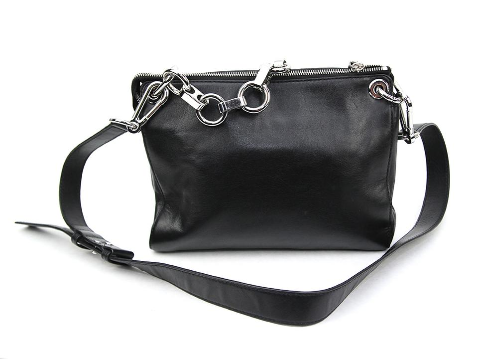 748aa528d6f3 Michael Kors Gianna Medium Convertible Messenger Black Leather Cross Body  Bag - Tradesy