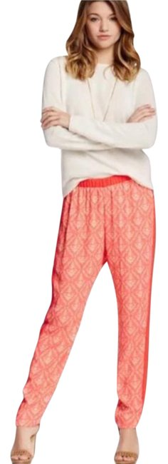 Preload https://item4.tradesy.com/images/romeo-and-juliet-couture-coral-cream-printed-baggy-pants-size-8-m-29-30-21628573-0-1.jpg?width=400&height=650