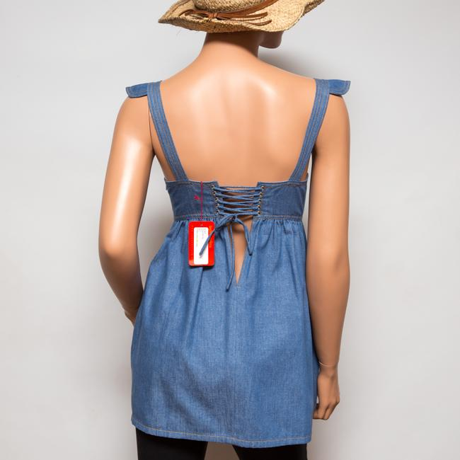 Ingwa Melero 29 Ddt Sky Denim Bustier Top Blue