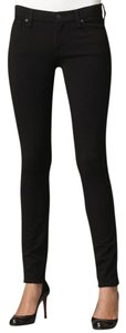 7 For All Mankind Soft Dryclean Only Bodycon Comfortable Skinny Jeans-Dark Rinse